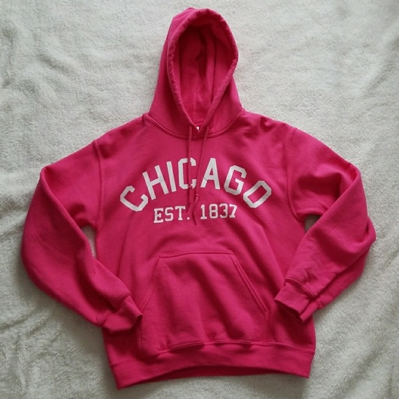 timeless design 08ae7 f9fd6 PINK Chicago Hoodie